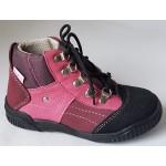 Detská obuv - bordó/ružová, vz.551