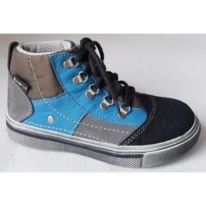 Detská obuv - modrá/šedá, vz.551