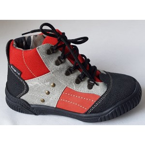 Detská obuv - šedo/červená, vz.551