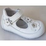 Detská celokoženná letná obuv - biela, vz.625