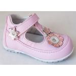 Detská celokoženná letná obuv - ružová, vz.625