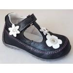 Detská celokoženná letná obuv - čierna, vz.625