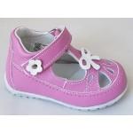 Detská celokoženná letná obuv - ružová, vz.627