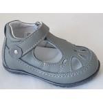 Detská celokoženná letná obuv - šedá, vz.627