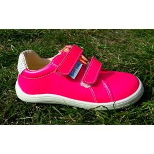 Baby Bare Shoes Spring barefoot obuv - neón ružová