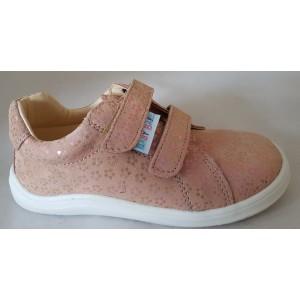 Baby Bare Shoes Spring barefoot obuv - ružový kvietok