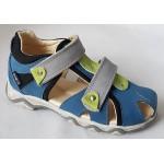 Detské sandálky - modrá/zelená, vz.623