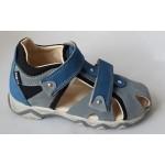 Detské sandálky - šedo/modrá, vz.623
