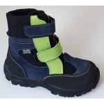 Zimné te-por topánky - modrá/zelená, vz.607