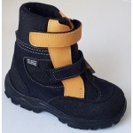 Zimné te-por topánky - modrá/prírodná, vz.607