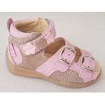 Detské sandálky kvietok - ružová, vz.496