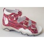 Detské sandálky srdiečko - melír, vz.604