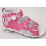 Detské sandálky kvietok - ružová, vz.604