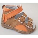 Detské sandálky - karamel, vz.496