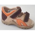 Detské sandálky - hnedé, vz.587