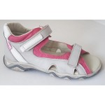 Detské sandálky - šedo-ružové, vz.653