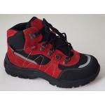 Detská obuv Te-por podšívka - červená, vz.643