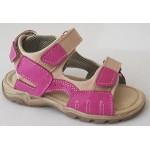Detské sandálky - cyklamén / béžová, vz.543