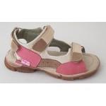 Detské sandálky - ružovo / béžová, vz.543
