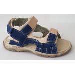 Detské sandálky - modro / hnedá, vz.543