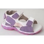 Detské sandálky - fialovo / biela, vz.543