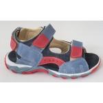 Detské sandálky - modro / červená, vz.543