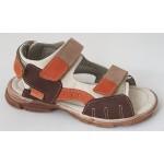 Detské sandálky - hnedo / oranžová, vz.543