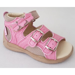 Detské sandálky - ružovo / béžová, vz.496