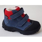 Zimné te-por topánky - modrá/červená, vz.705