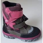 Zimné te-por topánky - ružová, vz.617