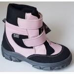 Zimné te-por topánky - púdrovo/ružová, vz.607