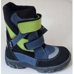 Topánky s te-por podšívkou - modro-zelená, vz.617