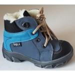 Detská zimná obuv - modro-tyrkysová, vz.567