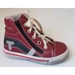 Celoročné topánky - červeno-čierna, vz.639