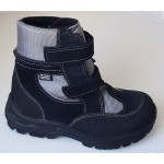Zimné te-por topánky - čierno-šedá, vz.607