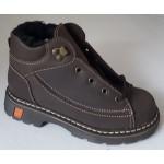 Koženná zimná obuv - hnedá, vz.261