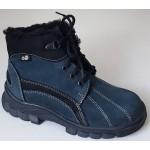 Koženná zimná obuv - modrá, vz.175