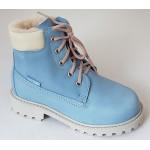 Koženná zimná obuv - bledomodrá, vz.361