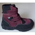 Zimné te-por topánky - bordó, vz.607
