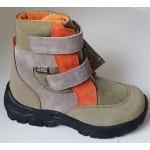 Zimné te-por topánky - zeleno- oranžová, vz.597