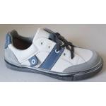 Celoročné topánky - bielo - modrá, vz.637