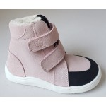 Barefoot obuv Baby Bare Febo Winter - sparkle pink