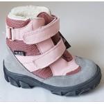 Topánky s te-por podšívkou- ružovo-šedá, vz.596