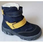 Topánky s te-por podšívkou- modro-žltá, vz.596