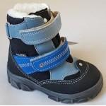 Topánky s te-por podšívkou- bledo modrá - modrá, vz.596