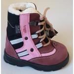 Zimné te-por topánky - bordó - ružová, vz.469