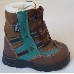 Zimné te-por topánky - hnedá - zelená, vz.469