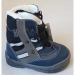 Zimné te-por topánky - modrá - šedá, vz.469