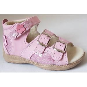 Detské sandálky - ružová/ kvietok, vz.496