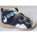 Detské sandálky - modrá/bublinka, vz.496